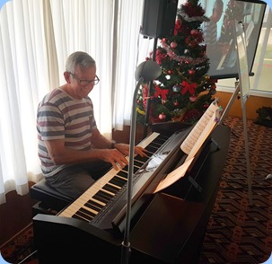 New member, Brian McMurray, kindly provided some lovely arrival music for us.