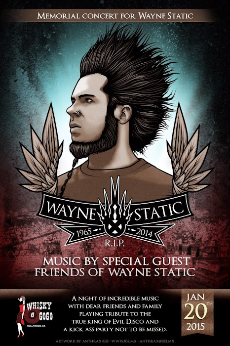 Membros do System of a Down irão participar de show beneficente para Wayne Static