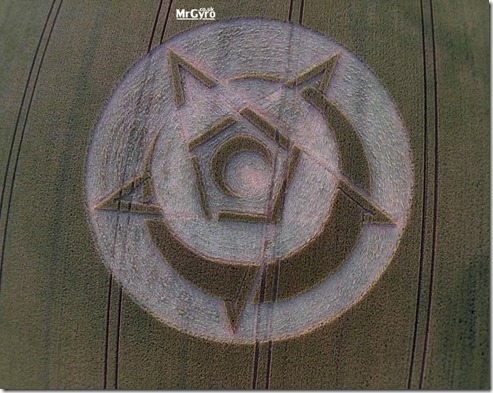 Whispering  Rollright Stones, Oxfordshire Crop Circle