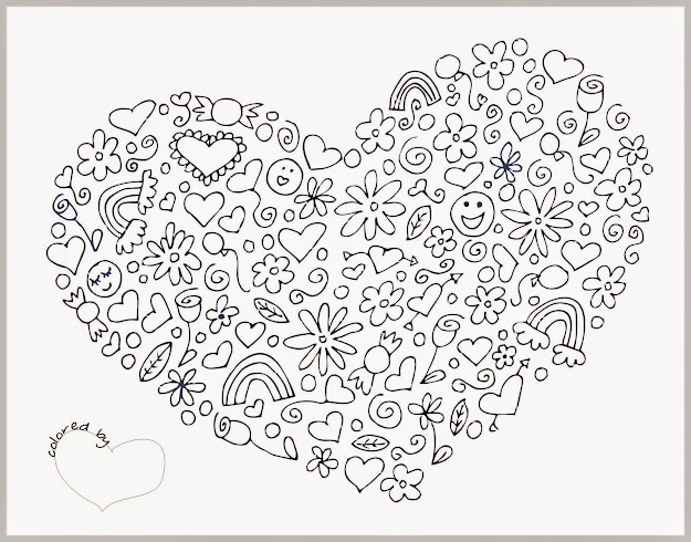 Adult Coloring Pages Hearts With For Adults Of