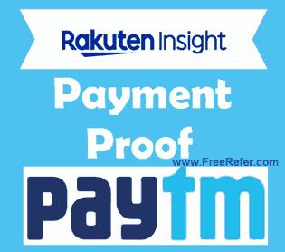 Rakuten insight Payment Proof Method by Paytm