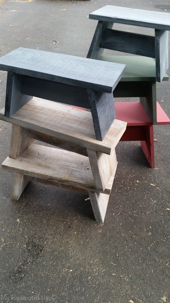 One Board Step Stools
