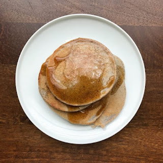 Blue Cornmeal Pancakes.