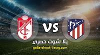 نتيجة مباراة اتليتكو مدريد وغرناطة اليوم 27-09-2020 الدوري الاسباني