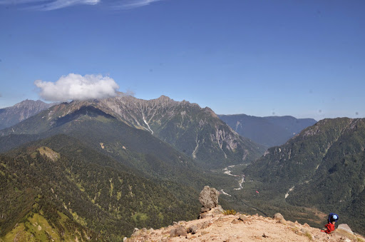 穂高岳と上高地