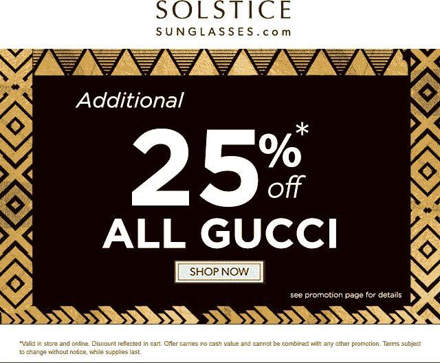 2a2428cd4c Extra 25% off Gucci at Solstice Sunglasses