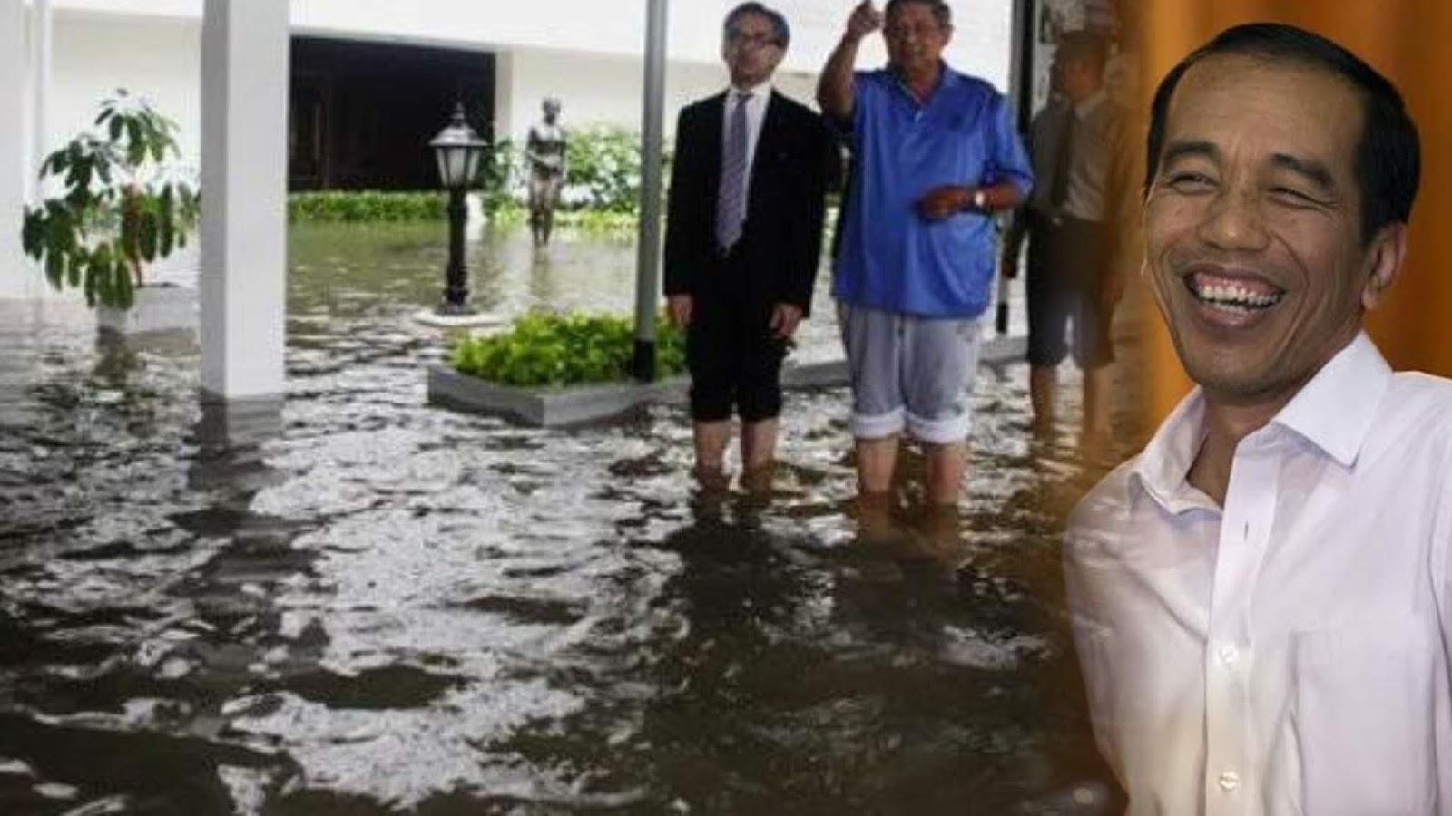 Istana Presiden Kebanjiran, Paling Parah Zaman Jokowi Jadi Gubernur