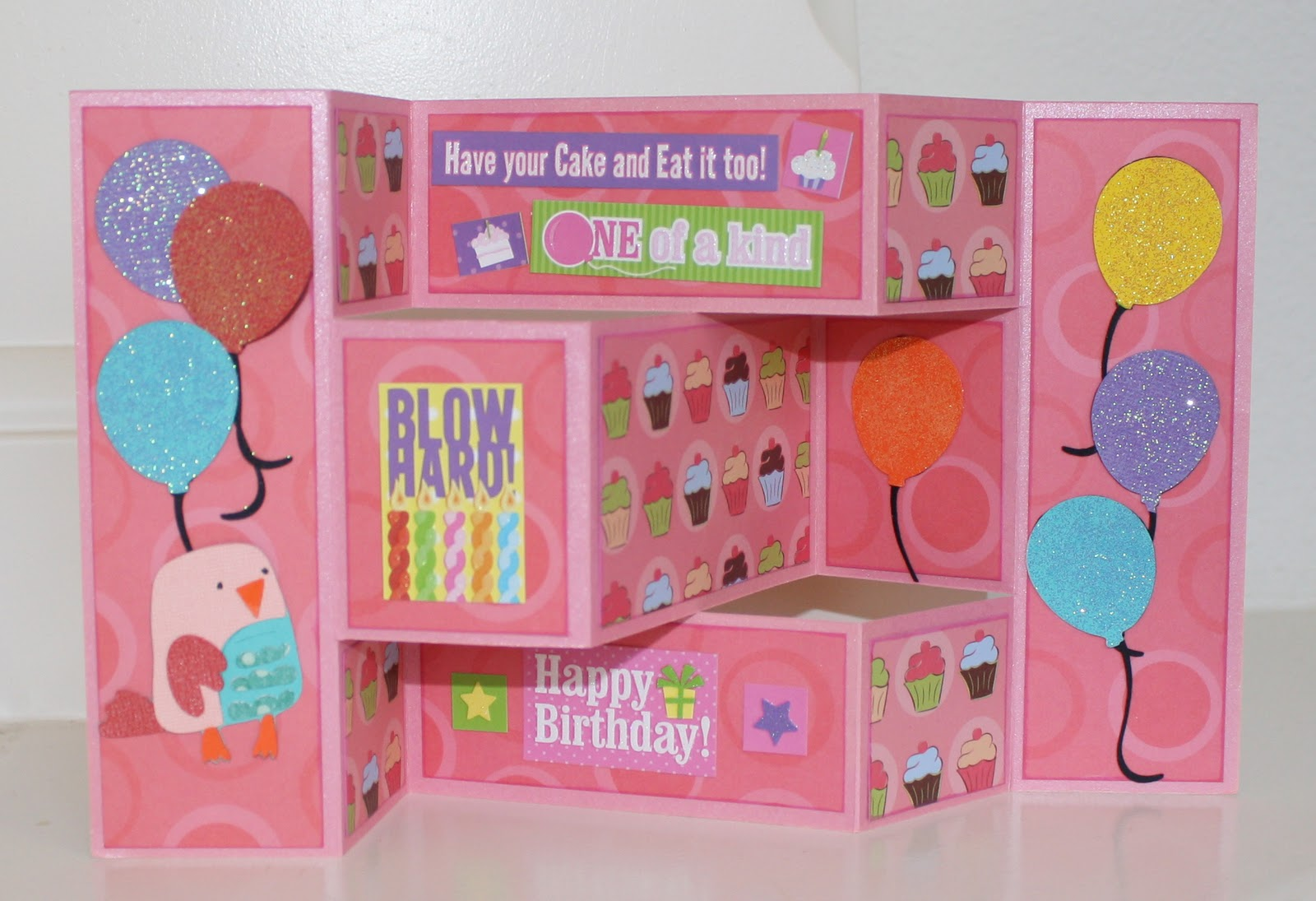 Lalas world happy birthday tri fold shutter card happy birthday tri fold shutter card bookmarktalkfo Images