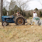 George pulls the tractor