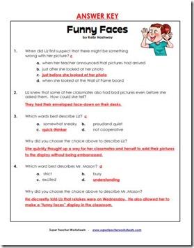 super teacher comprehension funn face ans