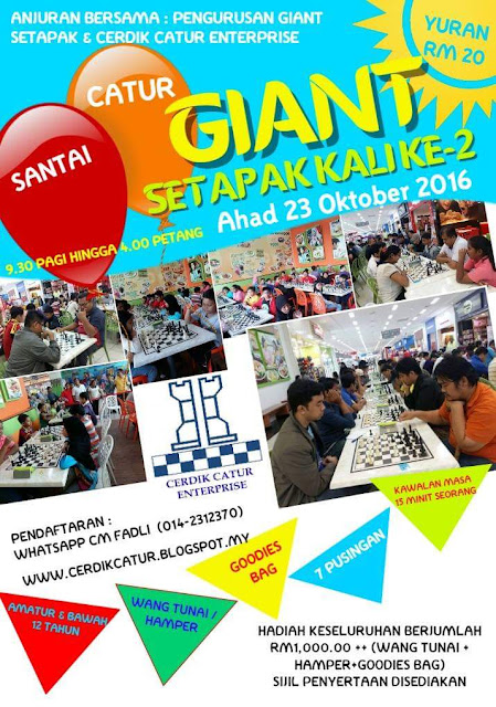 Chess tournaments Oktober-November 2016