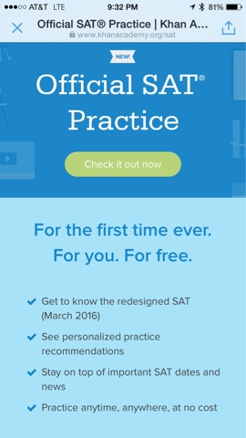 FREE Official SAT practice!