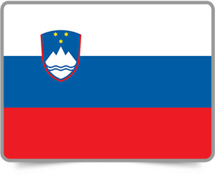 Slovenian framed flag icons with box shadow