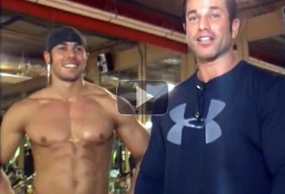 Bodybuilders Sagi Kalev and Nick Soto