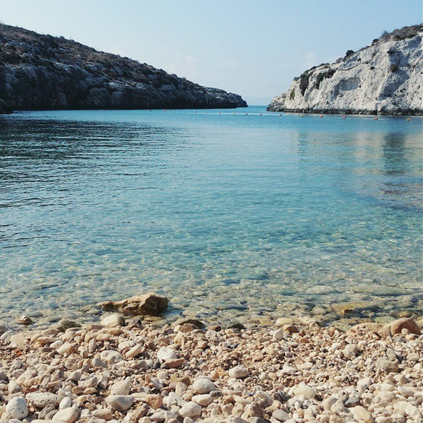 Picture of the beach of Mgarr Ix-Xini, Gozo, Malta.