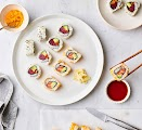 Spicy Tuna and Salmon Sushi Rolls Recipe