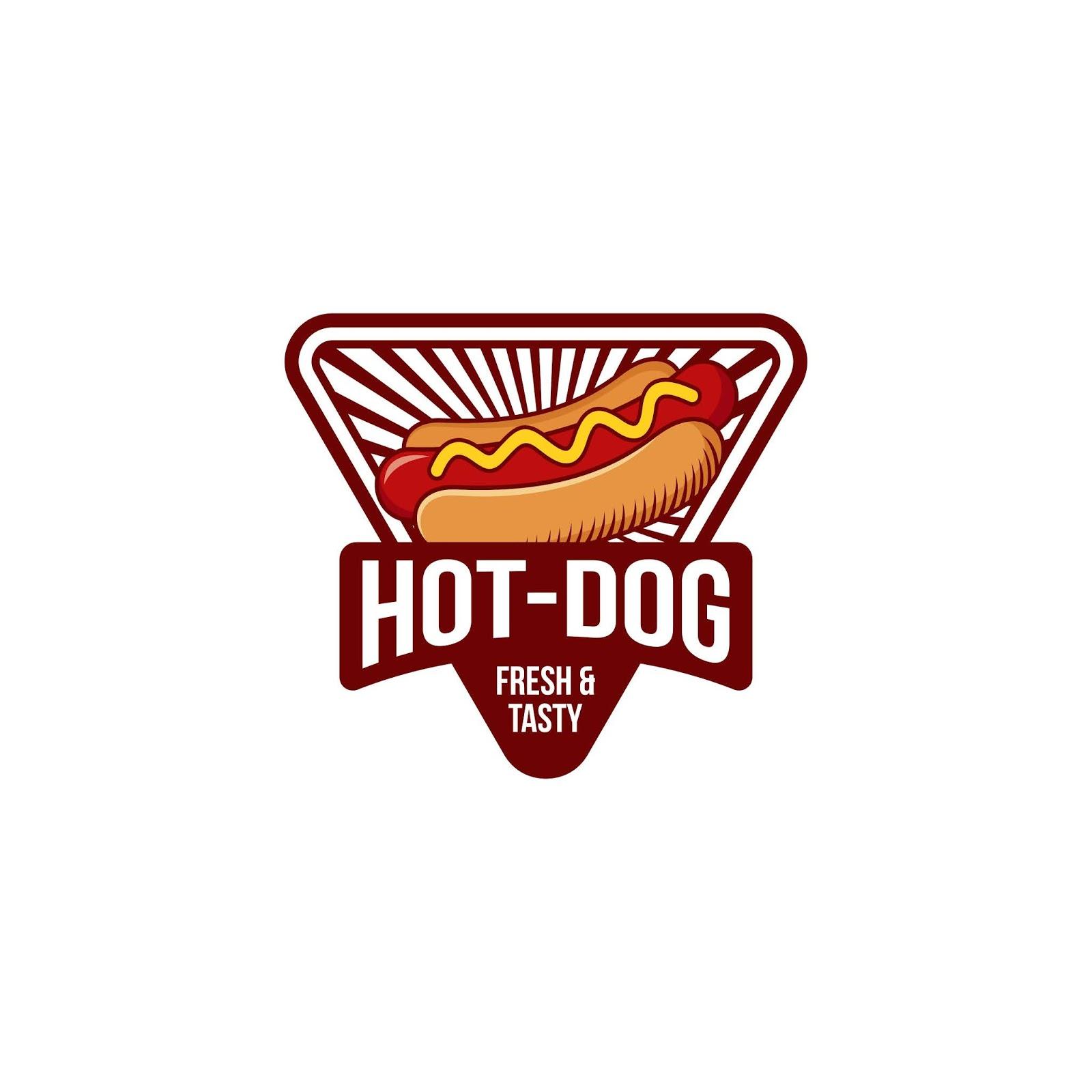 Hot Dog Logo Badge Free Download Vector CDR, AI, EPS and PNG Formats
