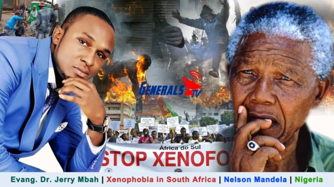 MUST WATCH/LISTEN!! Evang Dr. Jerry A. Mbah speaks on Xenophobia in South Africa