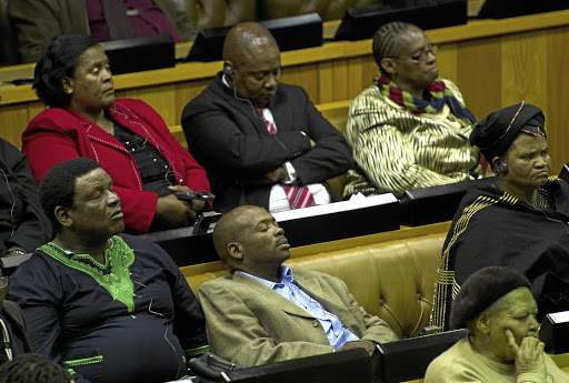 The ANC's challenge is that the party has old men and women in positions of leadership who simply sleep during parliamentary and committee sittings, the writer says. /Yunus Mohamed/ Gallo Images