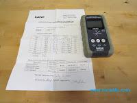 מד קרינה KAISE SK8301 - תעודת כיול