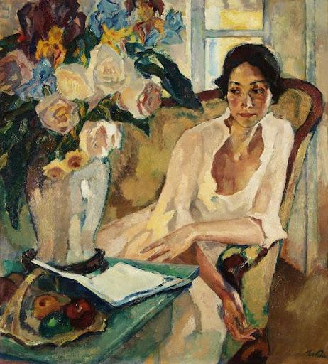 Leo Putz – Damenbildnis, 1922