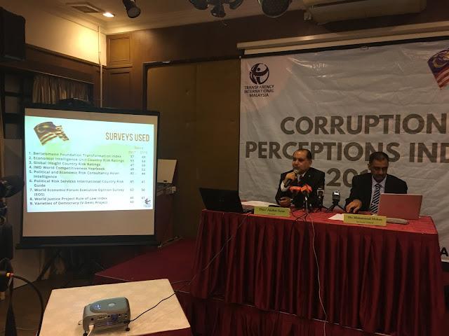 CPI2017 Malaysia merosot dalam kedudukan Indeks Persepsi Rasuah (CPI) 2017, daripada tangga 55 kepada 62 daripada 180 buah negara