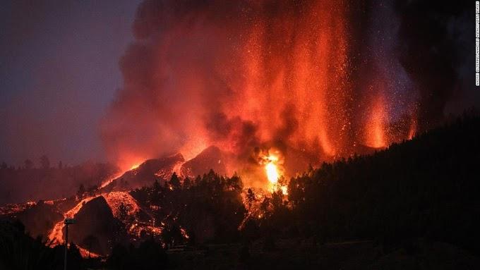 اسپین کے جزائر آگ میں جلنے لگے۔۔متعدد بےگھر