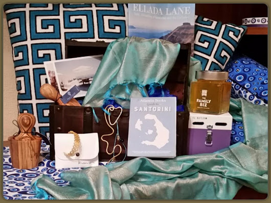 Ellada Lane Subscription Box Review. Volume 1 Dreaming of Santorini and the Cyclades