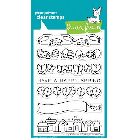 Lawn Fawn Clear Stamps 4X6 - Simply Celebrate Spring
