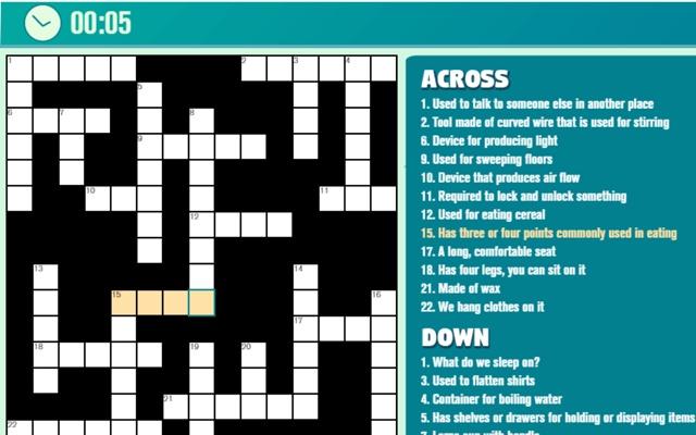 Casual Crossword Game