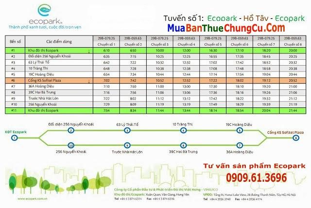 Tuyến số 1 xe bus Ecopark