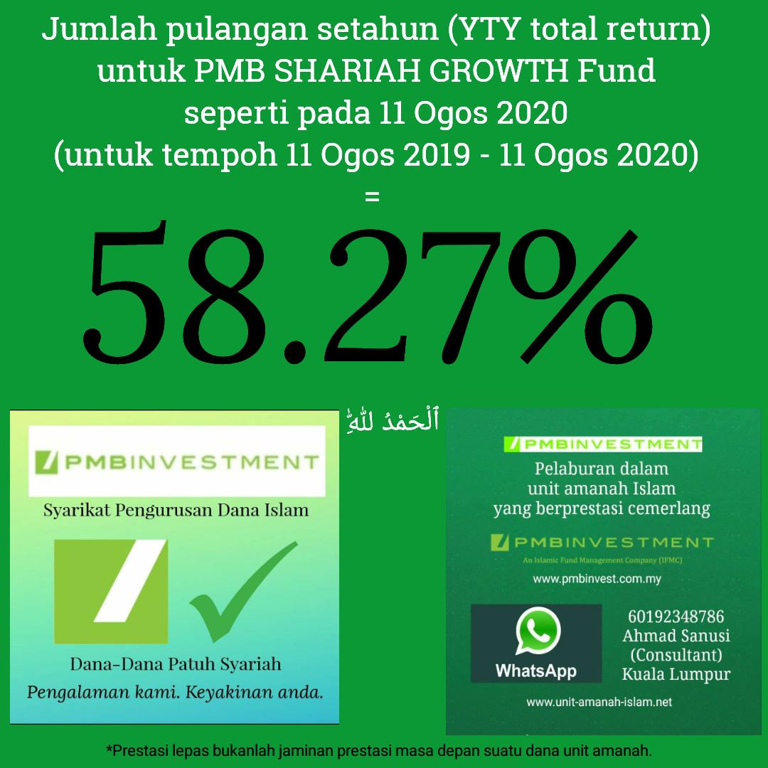 Global Islamic Finance Jumlah Pulangan Setahun Yty Total Return Untuk Pmb Shariah Growth Fund Seperti Pada 11 Ogos 2020 Untuk Tempoh 11 Ogos 2019 11 Ogos 2020 58 27