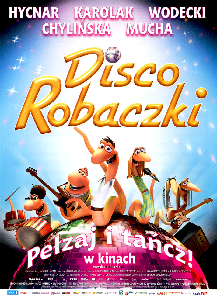 Ulotka filmu 'Disco Robaczki (przód - wersja B)'