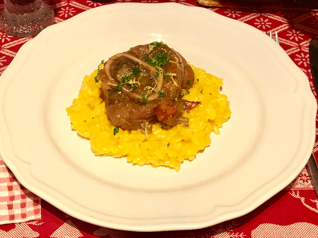Ossobuco of veal with saffron risotto