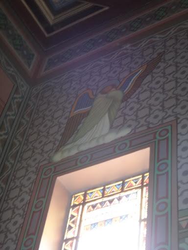 O anjo representa toda a milícia celeste envergonhada, triste em ver o Filho de Deus sendo humilhado da forma como foi.