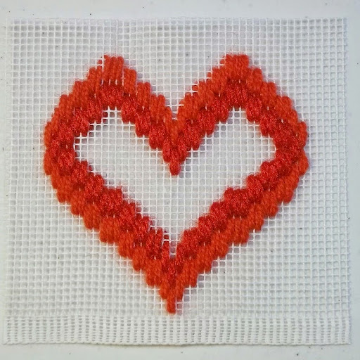 heart baseline stitch pattern
