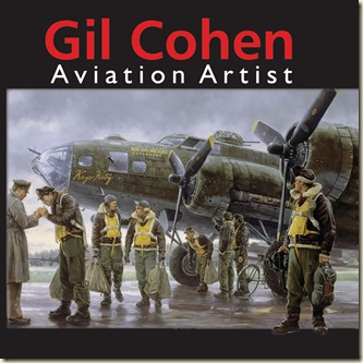 Gil Cohen Aviation Artist book - Coming Home, England 1943