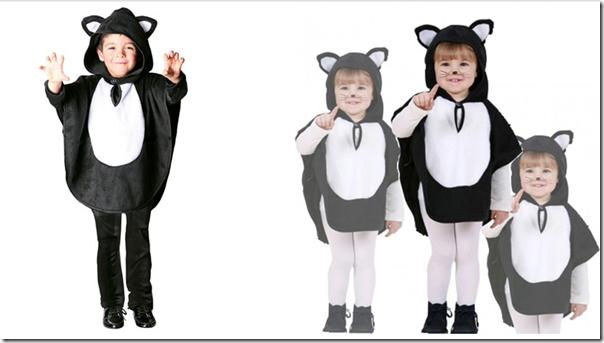 disfraz hecho con poncho gatitos