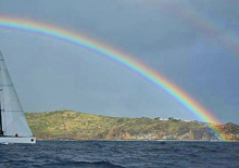 Rainbow off Guadelope western point