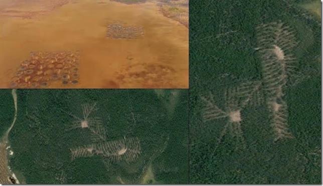 Crop Circle Structure filmado pelo piloto enquanto voava sobre a região russa de Arkhangelsk 01
