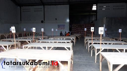 Gudang Logistik KPUD Kabupaten Sukabumi // Foto : Isep. Panji