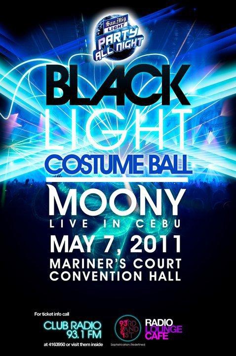 Moony Live In Cebu Black Light Costume Ball