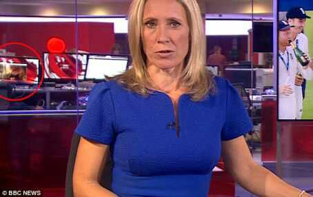 BBC worker spotted watching porn during live news