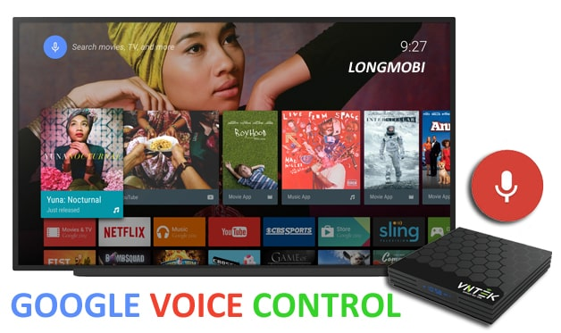 android tv box vntek tx6+