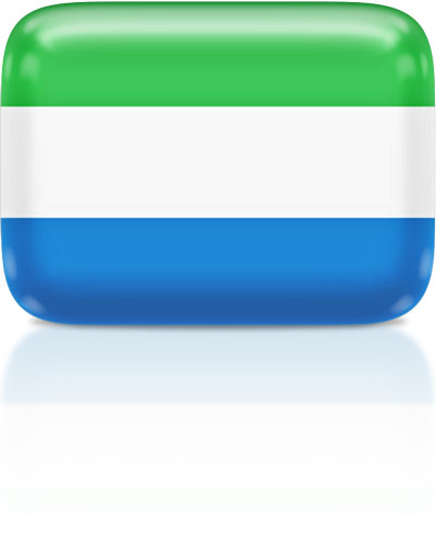 Sierra Leonean flag clipart rectangular