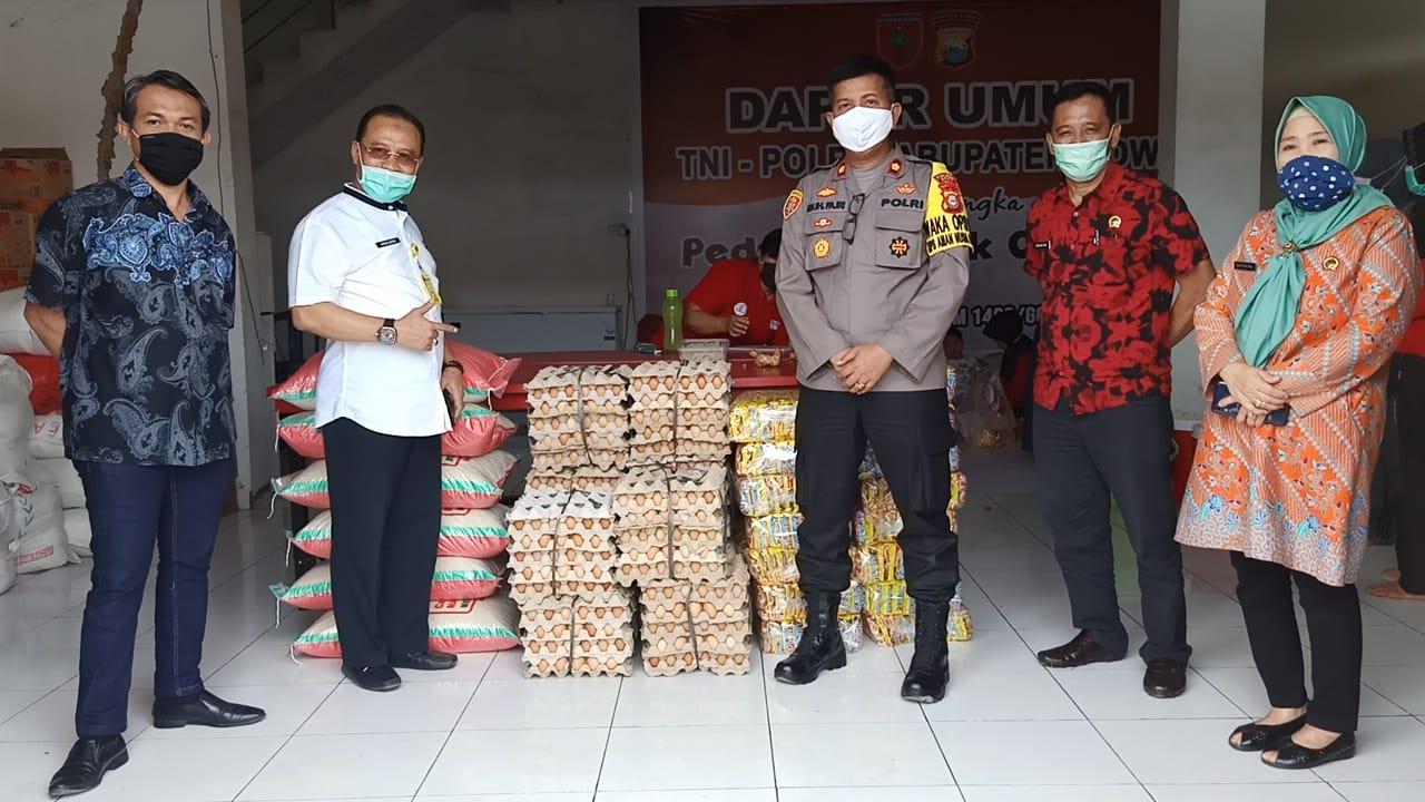 Peduli Covid -19, BPN Gowa Distribusikan Bantuan Untuk Dapur Umum TNI, POLRI