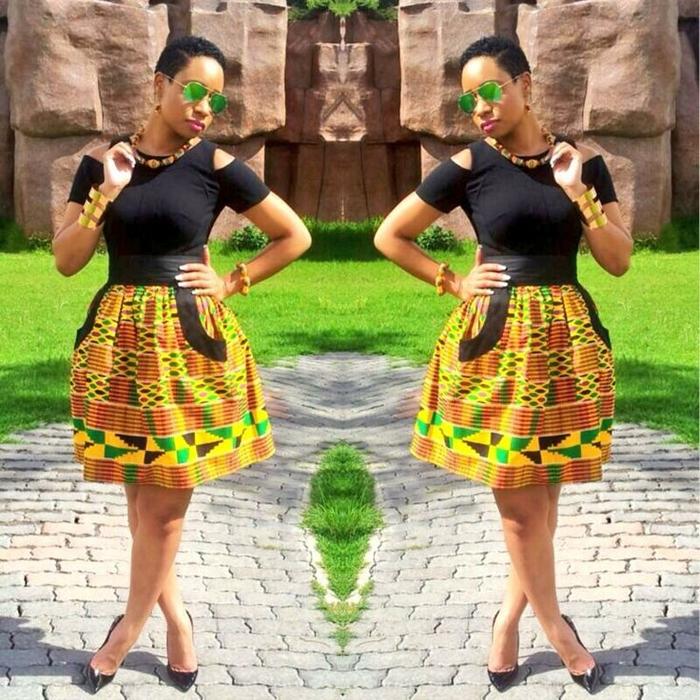 Elegant Ankara Short Gown Styles &amp- Ankara Vibrant Dresses For ...