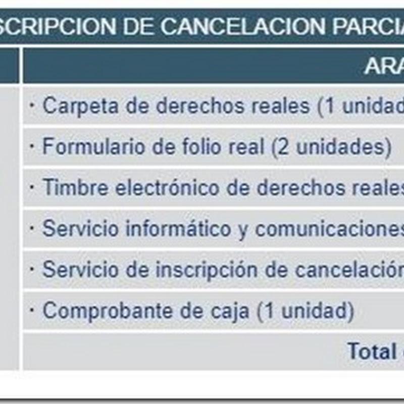 """Bolivia: Requisitos y costos para realizar """"Inscripción de Cancelación Parcial"""" en Derechos Reales"""