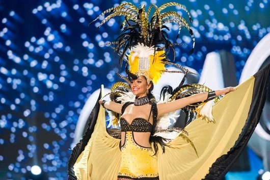Chanelle de Lau, Miss Curacao 2016 debuts her National Costume on stage at the Mall of Asia Arena on Thursday, January 26, 2017.  The contestants have been touring, filming, rehearsing and preparing to compete for the Miss Universe crown in the Philippines.  Tune in to the FOX telecast at 7:00 PM ET live/PT tape-delayed on Sunday, January 29, live from the Philippines to see who will become Miss Universe. HO/The Miss Universe Organization