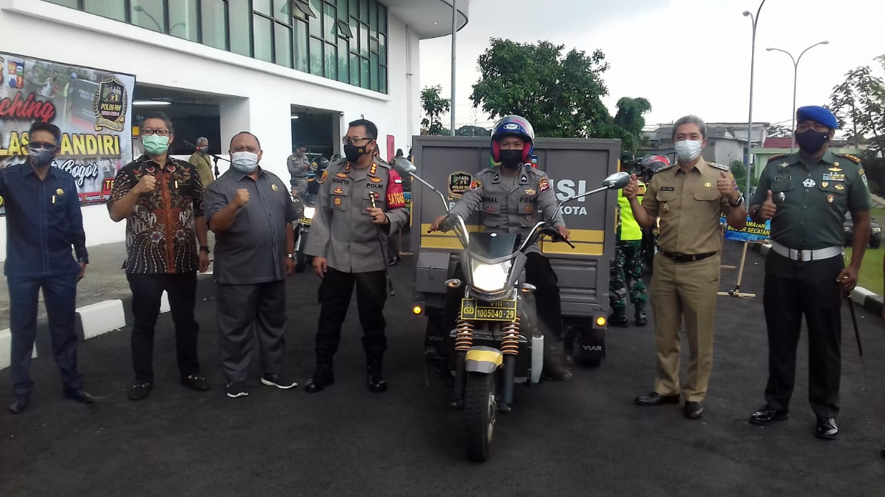 Kapolresta Bogor Kota Polda Jabar Luncurkan  Program Peduli Isolasi Mandiri Covid 19